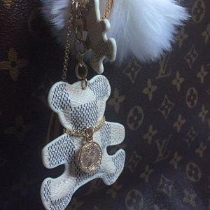 Accessories - TeddyBear Keychains Cream White